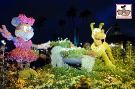 DNP April 2016 Photo Report: Epcot Flower and Garden Festival.. Topiary's at night.