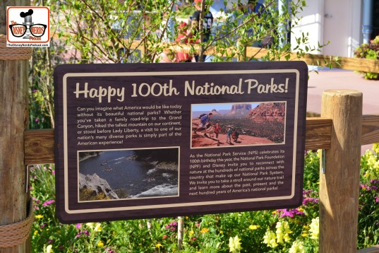 DNP April 2016 Photo Report: Epcot Flower and Garden Festival. The Ranger Mickey & Friends is presented by the National Parks Foundation celebrating it's 100th Birthday