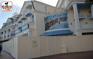 DNP April 2016 Photo Report: Lots of Construction Walls at the Boardwalk Resort. Flying Fish and Seaside Sweets are behind walls
