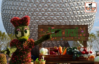 DNP April 2016 Photo Report: Epcot Flower and Garden Festival - Fresh Food, Fun & Flowers at the Main Enterance