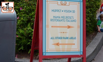 DNP April 2016 Photo Report: Hollywood Studios: A sign near Star Tours Muppet Vision 3D and Mama Melrose's to the right, but nothing else to do in that area...