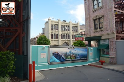 DNP April 2016 Photo Report: Hollywood Studios: Walls in the newly named Muppet Courtyard - Streets of American completely removed.