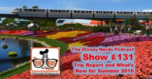 The Disney Nerds Podcast Show #131: What's new at Walt Disney world Summer 2016