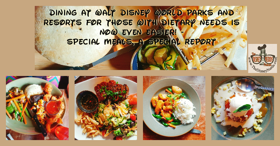 Special Diets while visiting Walt Disney World