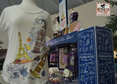Festival Merchandise inside the Festival Center. Epcot Food and Wine Festival 2017