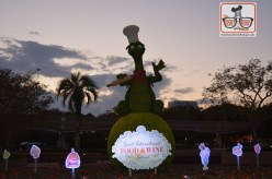 A little Flower and garden at food and Wine with the Figments Topiary