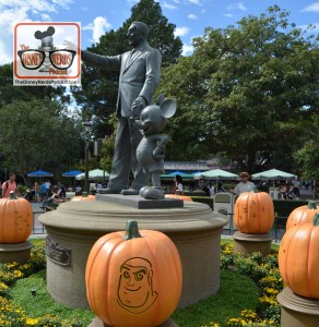 The Disneyland Hub - Complete with Pumpkins representing each of the lands.