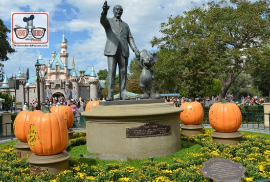 The Disneyland Hub - Complete with Pumpkins representing each of the lands