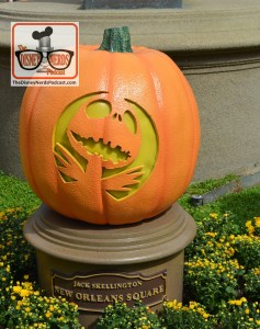 The Disneyland Hub - Complete with Pumpkins representing each of the lands. Jack Skellington - New Orleans Square
