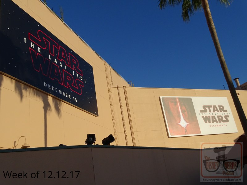 The Last Jedi debuts this week and the billboards on the backside of the Chinese Theater aptly promote this exciting motion picture with the teaser posters.