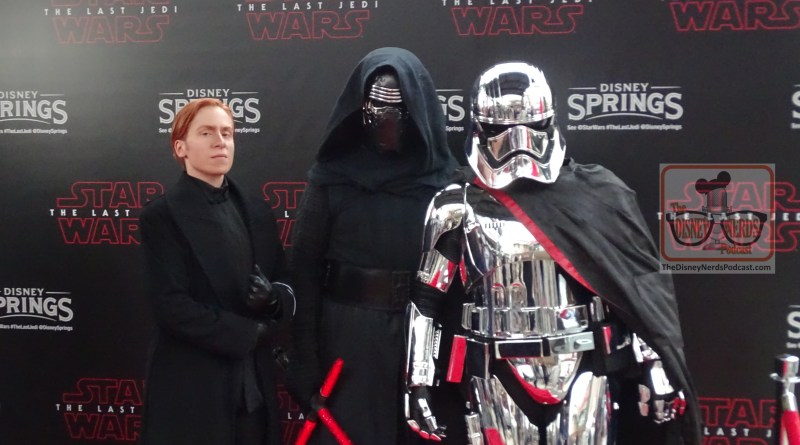 General Hux, Kylo Ren, and Captain Phasma at Last Jedi Premiere at Disney Springs. (Photo by John Capos)
