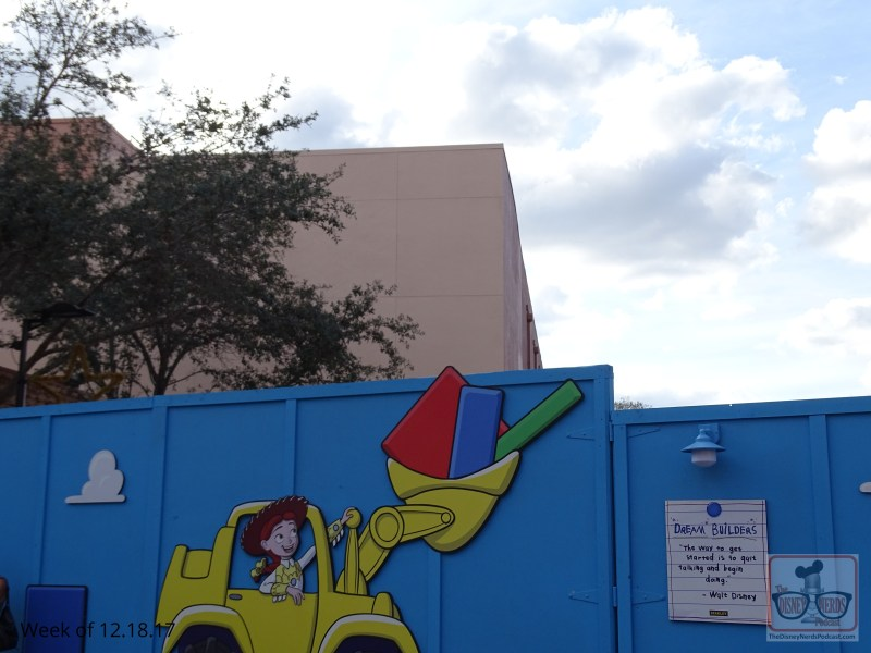 As for Toy Story Land construction…a little noticeable progress with the completion of wall painting. Roller coaster fans, the end product will be worth the wait.