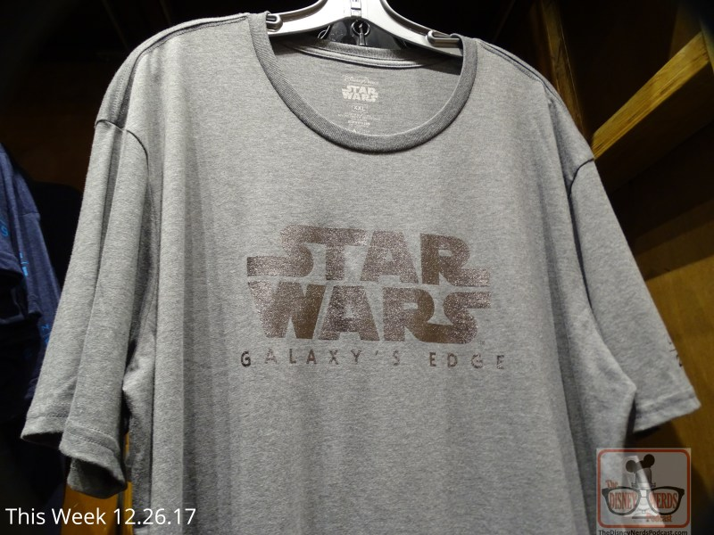 The next best thing to the real Battu opening in late 2019 is the authentic merchandise that is here now! Journey over to Tatooine Traders to find a whole corner in the store dedicated to that Land. If you indulge yourself in the variety of shirts, mugs, hats, art, etc., then perhaps waiting for 2019 will not seem so far away. The latest photos of Battu construction is below.