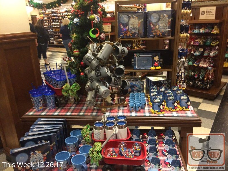 Speaking of the New Year, during your December visit check out all the new 2018 merchandise that awaits guests front and center in most Park stores. For bargain hunters, great deals are on discounted 2017 Jingle Bell Jingle Bam merchandise while they last.