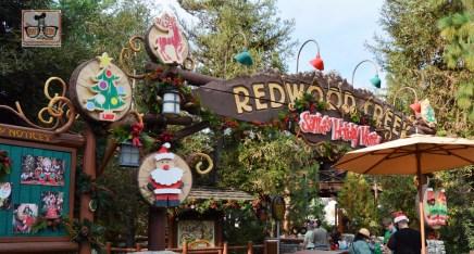 California Adventure Redwood Creek featuring a Santa Meet.