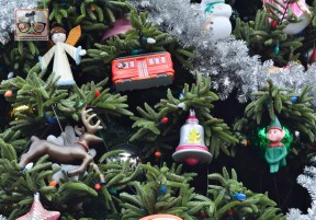Disney California Adventure Christmas Tree - Complete with Red Car Trolley