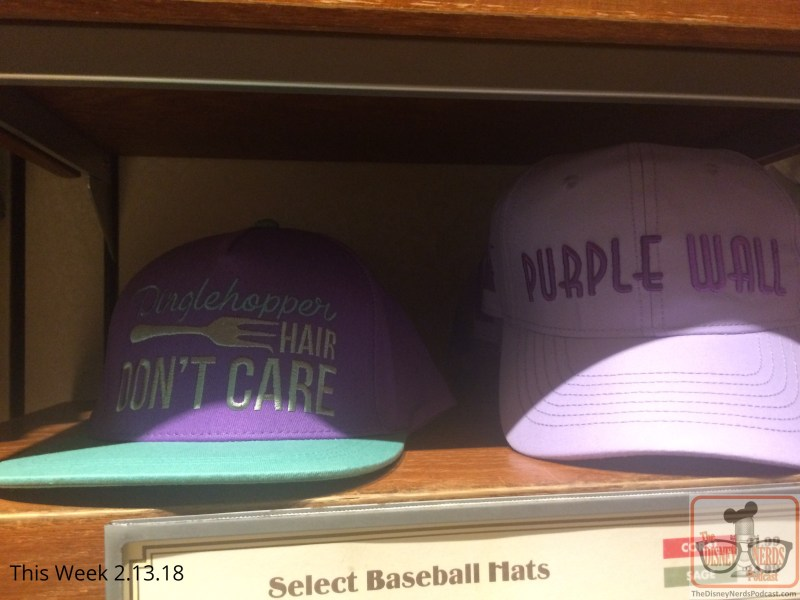 Hurry to Carthay Circle to check out their hat inventory that showcase social media hot spots … a favorite may be the purple wall over at Magic Kingdom.