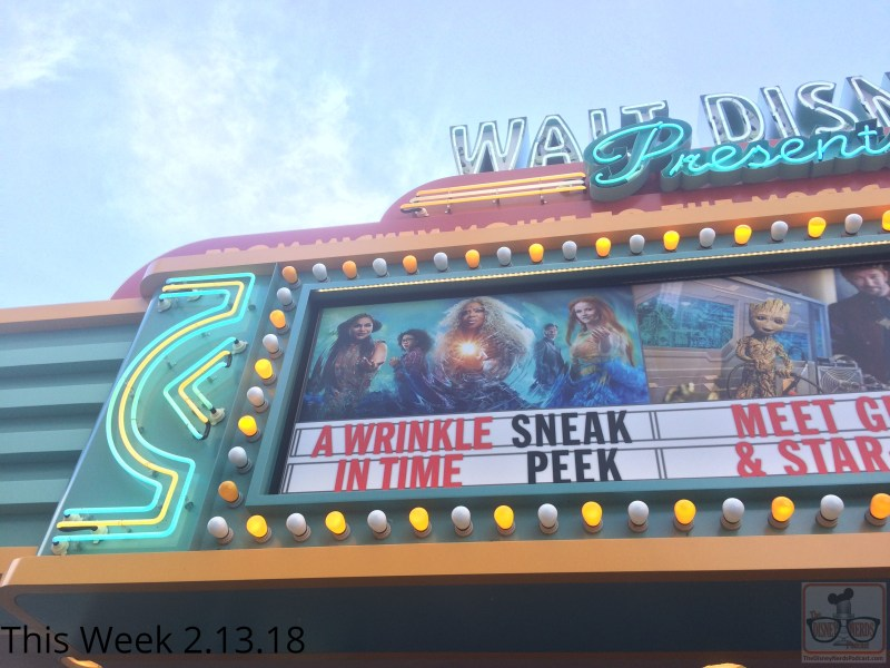 Head on over to One Man's Dream and make your way to Walt Disney Presents to enjoy a preview of a Wrinkle In Time, set to release to theatres March 9! This American science fantasy adventure film stars Oprah Winfrey, Reese Witherspoon, and Mindy Kaling. While there visit with Star Lord and baby Groot from Guardians of the Galaxy at the meet and greet.