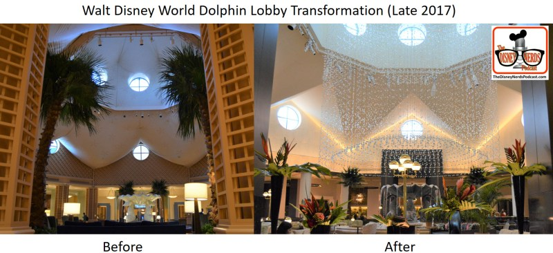 Walt Disney World Dolphin Lobby Transformation - Before and After