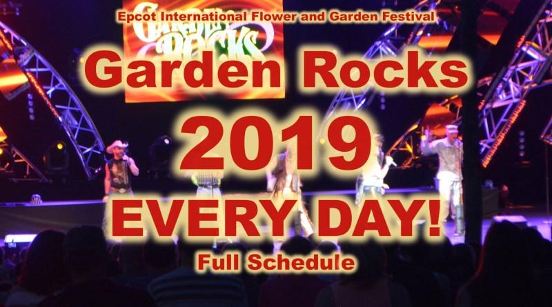 The Disney Nerds Podcast Epcot Flower and Garden Festival Garden Rocks Full Schedule