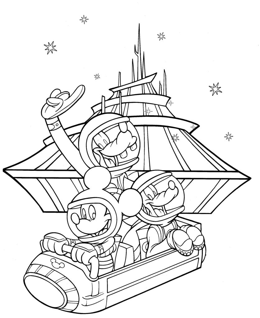 Walt Disney World Coloring Pages Free - Coloring Home | 1024x836
