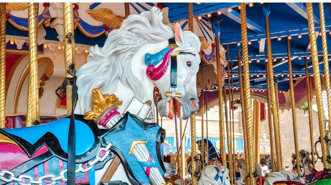 Prince Charming Regal Carrousel, Magic Kingdom Itinerary, Walt Disney World