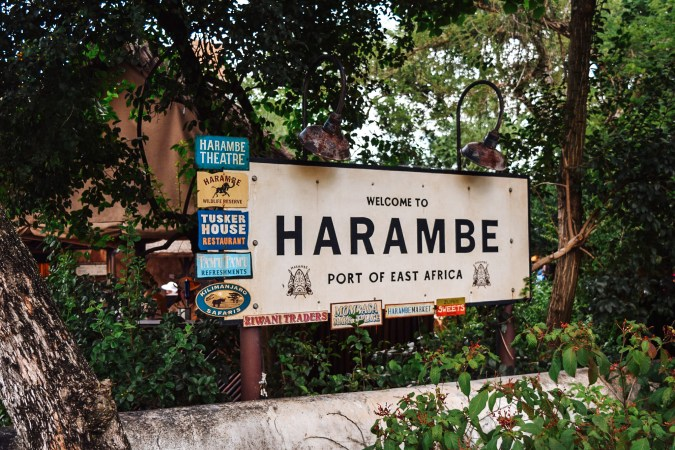Welcome to Harambe sign