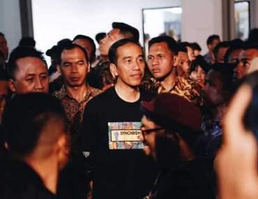 Jokowi Enjoyed Synchronize Festival 2017