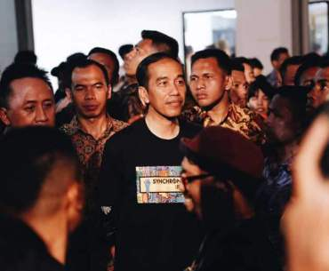 Jokowi Enjoyed Synchronize Festival 2017
