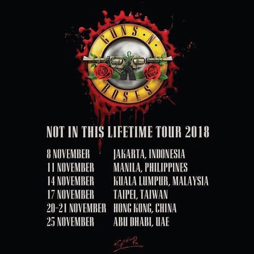 Guns N Roses Not in This Lifetime Tur Jakarta