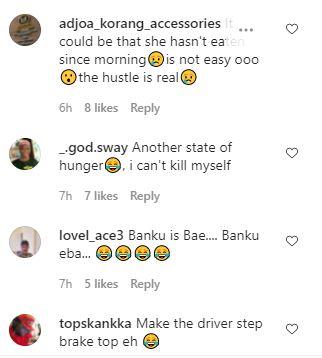 Video of lady eating 'banku' in 'trotro' causes stir on social media. 4