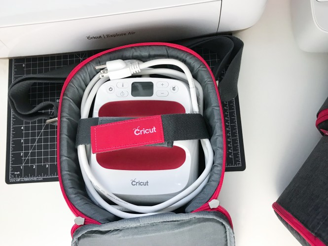Place your EasyPress 2 on top of the base inside the tote and wrap the cord around it.
