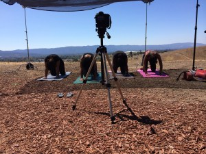Shooting the Divas Get Healthy spot with Yvette Birner of Infinite Wellness