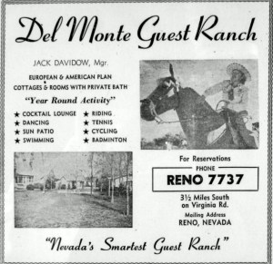 Yellow Page ad for the Del Monte Guest Ranch, circa 1947.