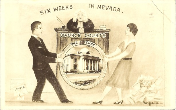 Postcard from the Reno divorce era, circa 1940s