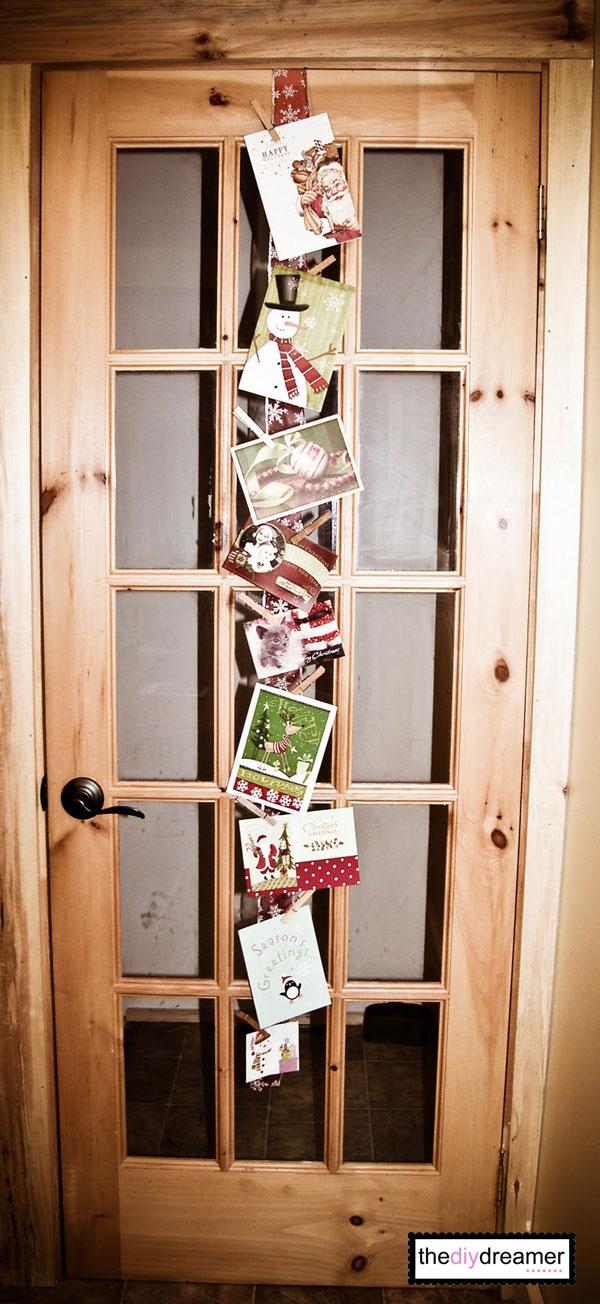 Ribbon Christmas Card Holder The DIY Dreamer
