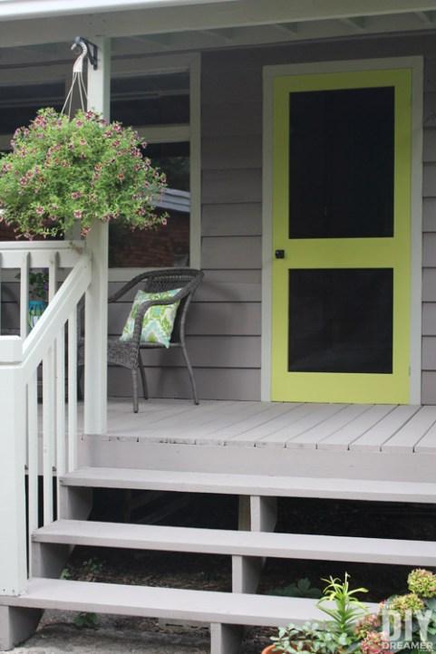 Stunning Green Doors - The DIY Dreamer screen door