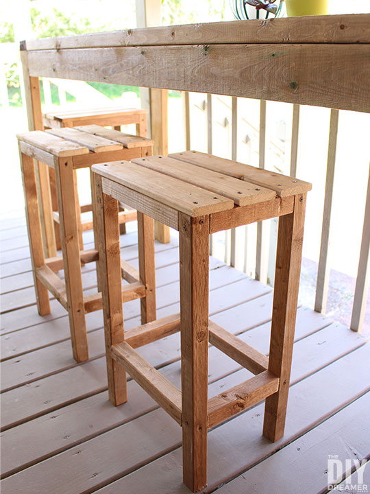 How To Build Outdoor Bar Stools The Diy Dreamer
