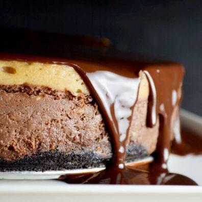 Peanut Butter Chocolate Cheesecake