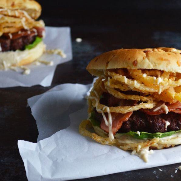 White BBQ Bacon Burger