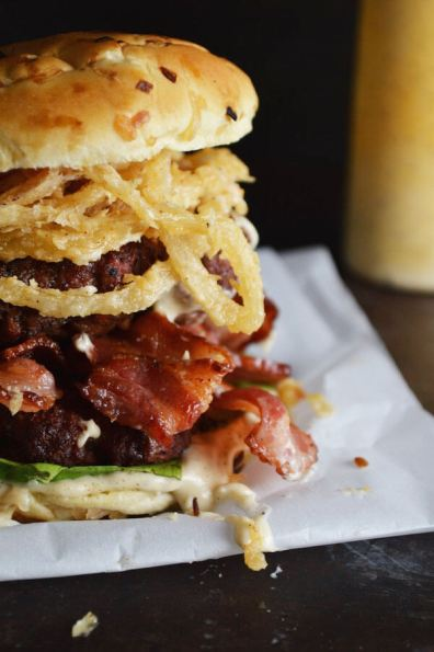 White BBQ Bacon Burger