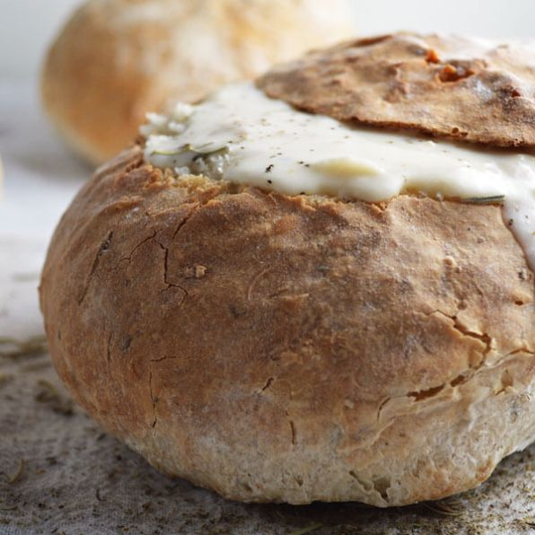 Herbed Bread Bowls