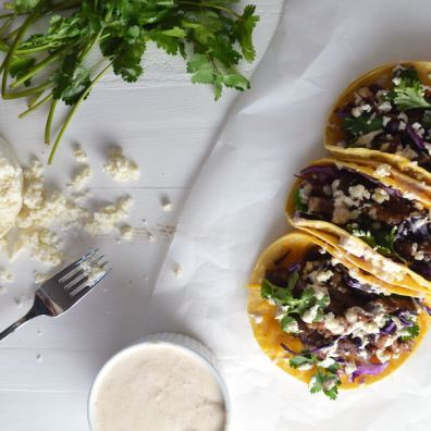 Steak Tacos + Bacon Chipotle Crema