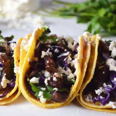 Steak Tacos + Bacon Chipotle Crema