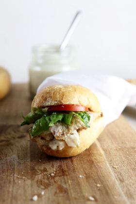 Chicken Caesar Sandwiches