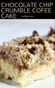 Chocolate Chip Crumble Coffee Cake