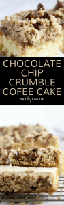Chocolate Chip Crumble Coffee Cake (long)