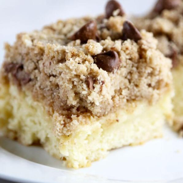 Chocolate Chip Crumble Coffee Cake