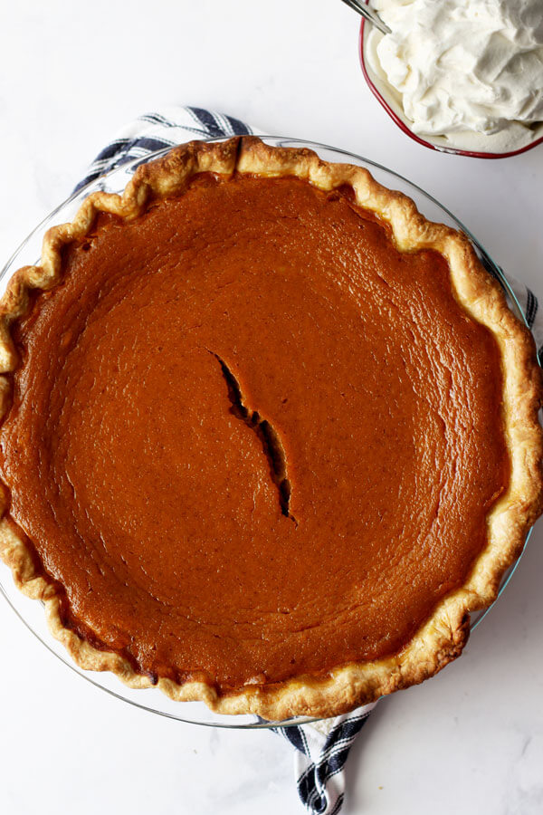 The Best Maple Bourbon Pumpkin Pie