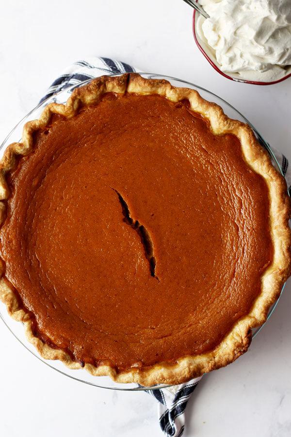 The Best Maple Bourbon Pumpkin Pie